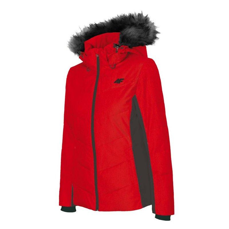 Kurtka narciarska damska H4Z18 KUDN007 4F (czerwona)
