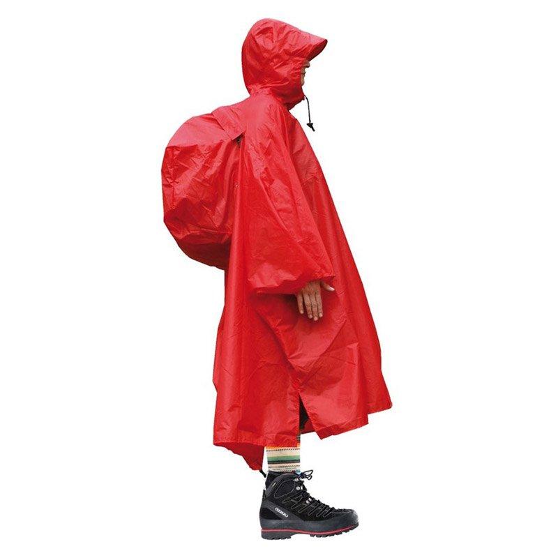 Lekka peleryna przeciwdeszczowa płaszcz ponczo z kapturem