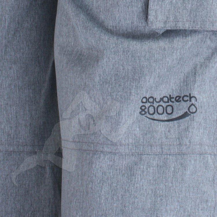 Spodnie narciarskie SPMN050 Aquatech 8.000 4F Szary